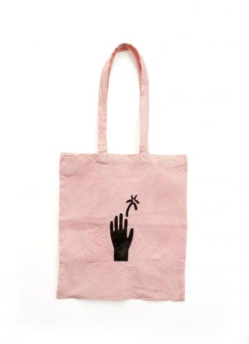Black Palm Tote Bag