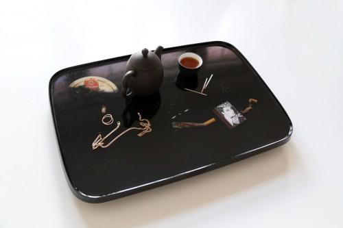 Black Palm Cigarette Tray