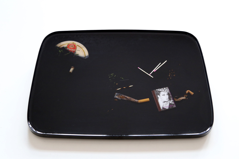 Black Palm Cigarette Tray
