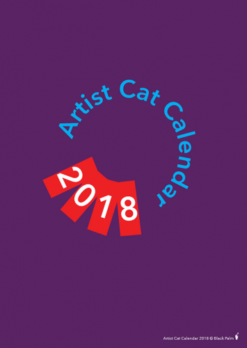 Black Palm Artist Cat Calendar 2018